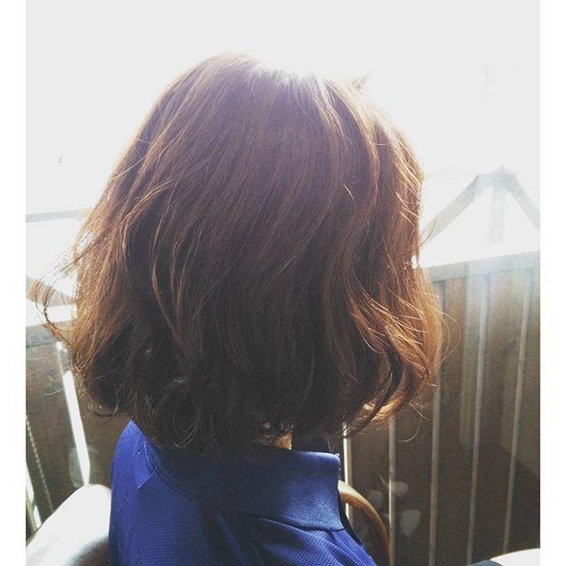 IMAGINE オススメスタイルボブに動きをプラスプラチナオレンジで夏に合うクールなツヤ感#fashion #makeup #hairstyle #hair#カラー #美容室 #color #カット #パーマ #髪型 #cut #ボブ #イメチェン #ショート #アッシュ #オシャレ #郡山 #福島 #30 #40 #イマジンヘアー