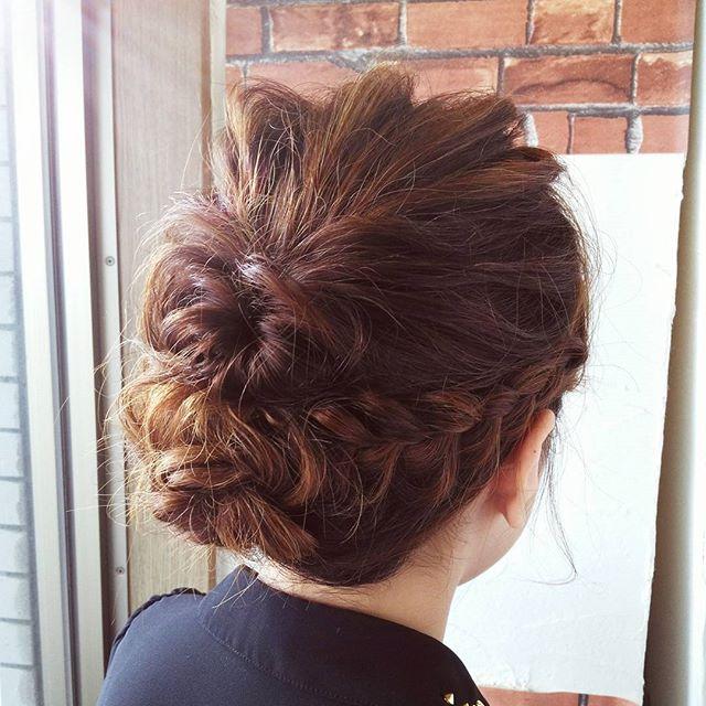 IMAGINEはSETもオススメですよ#fashion #makeup #hairstyle #hair #girl #beauty #style #happy #brown #cute #pretty #hairdresser #hairarrange #ヘアアレンジ #編み込み #ヘアセット #美容室 #wedding #三つ編み #set #髪型 #upstyle #ヘア #結婚式 #アレンジ #カラー #イメチェン #髪 #イマジンヘアー #郡山