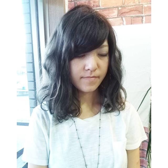 アッシュブルー新しいcolor剤#throw(スロウ)  日本人特有の赤みを消して透明感あるキレイなcolorになりますよ#fashion #makeup #hairstyle #hair #カラー #color #美容室 #アッシュ #パーマ #髪型 #イメチェン #髪 #郡山 #イマジンヘアー