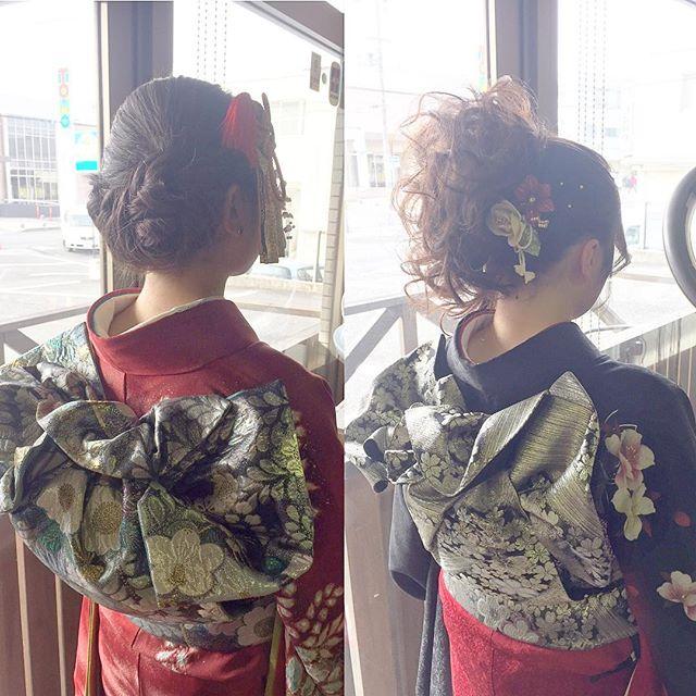 成人式のお二人です☆タイトめにまとめて髪飾りをポイントにしたちょっぴりレトロなスタイルと、対照的にカールをふんわり散らした王道アップスタイルです♪お二人とも雰囲気が違いますが、どちらもそれぞれ素敵でした☆ありがとうございました!#fashion #makeup #hair #hairstyle #ファッション#メイク #ヘア #ヘアスタイル #成人式 #成人式ヘア #成人式メイク #お着物 #振袖 #アップ #アップスタイル #ヘアアレンジ #ロング #ミディアム #ショート#富久山 #美容室イマジン #イマジンヘアー
