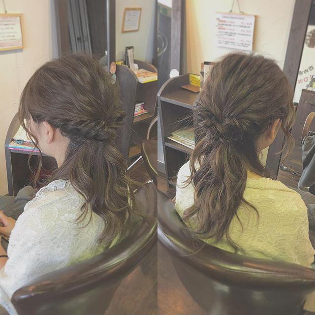 お呼ばれハーフアップです︎・トップを波ウェーブにして柔らかさを出しました!・トップやねじり編みの部分をほぐしてラフな雰囲気にしてみました☆最近は、こんな風にきっちりしすぎないセットが人気ですね(^^)・結婚式や同窓会など、大事な日のヘアセットでご来店される方も多いです!お気軽にご相談下さいね☆・山崎・#hair #hairstyle #fashion #makeup #beauty #longhair #mediumhair #bob #shorthair #hairarrange #ヘア #ファッション #メイクアップ #ビューティー #ロングヘア #ミディアムヘア #ボブヘアー #ショート #ヘアアレンジ #結婚式 #お呼ばれヘア #ハーフアップ #波ウェーブ #福島県 #郡山美容室 #郡山市美容室 #富久山 #美容室イマジン #イマジンヘアー
